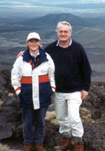 Sarah Ell with her father, author Gordon Ell