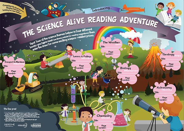 Entry form for Science Alive reading adventure