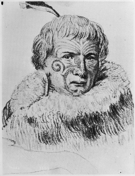 Te Rauparaha. Ref: 1/2-004115-F. Alexander Turnbull Library, Wellington, New Zealand. http://natlib.govt.nz/records/23247369