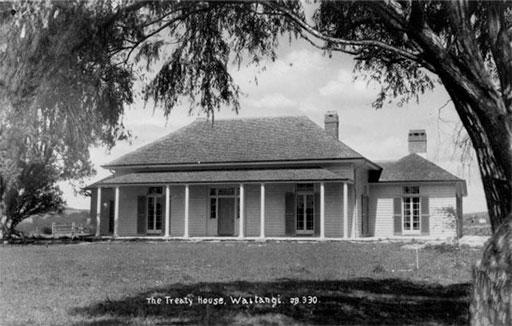 The Treaty House, Waitangi.