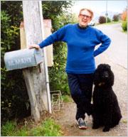 Margaret and her standard poodle Baxter