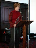 Carolyn, the libraries manager, opens the symposium