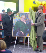 Christchurch City Councillor Anna Crighton unveiled a portrait of Margaret Mahy