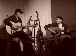 Hugh Campbell (left) and John Hooker (right) playing together.