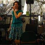 Ariana Tikao performs in the Central Library