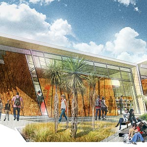 Artists impression of the Halswell Library and Community Facility