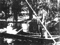 In the punt at 'Linburn' about 1912.
