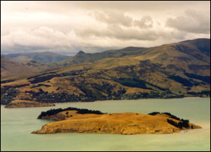 Ōtamahua viewed from the Port Hills