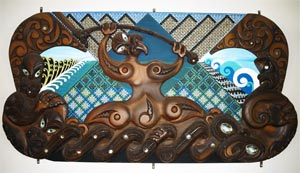 Mixed media panel, Ngati Moki