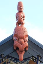 Carving, new whare, photo by Tarlin Stirling, April 2014
