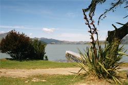 View of Whakaraupō from Rāpaki.