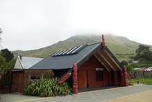 New whare, photo by Tarlin Stirling, April 2014