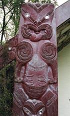 Carving detail on Te Whatu Manawa Māoritanga O Rēhua.