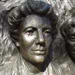Photo of Kate Sheppard's memorial