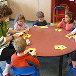 Children at a learning party