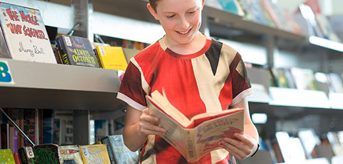 Customer in the library