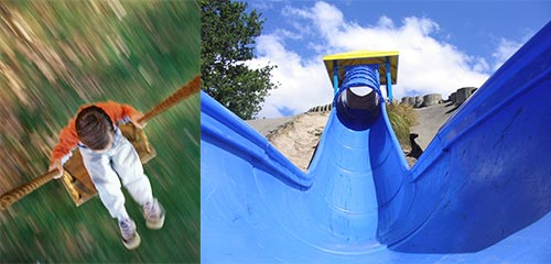 Swing stock photo and slide at Victoria Park