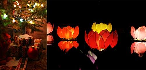 Christmas tree and lantern images