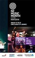 2014 New Zealand Music Month brochure