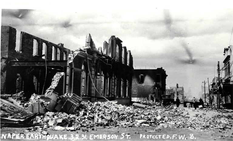 Napier nach dem Erdbeben 1931