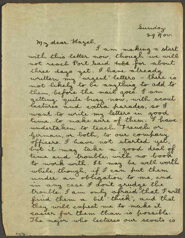 Letters From World War 1 Quotes