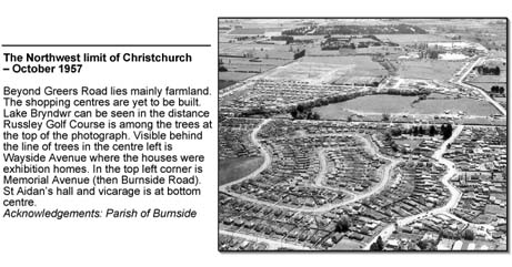 The Northwest limit of Christchurch - October 1957
