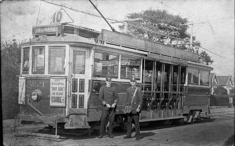 A tram built by Boon & Company