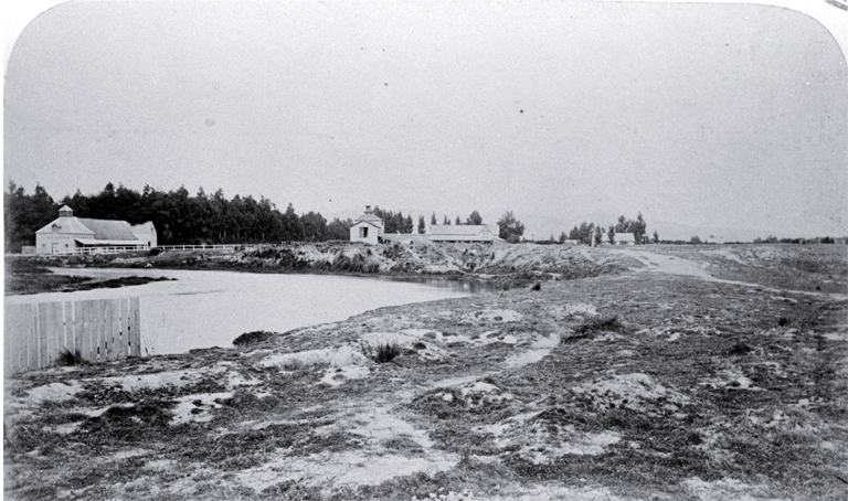 Avonside with Wards Malthouse and Brewery at the left, Christchurch