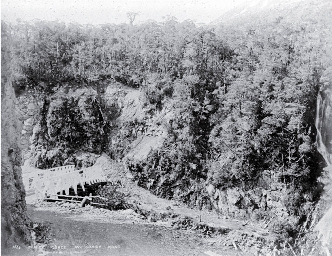 The bridge in the Bealey Gorge near Arthur's Pass on the West Coast road