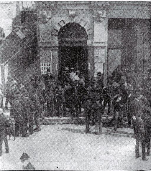 Photot of Some of the first women voters entering the Tuam Street hall