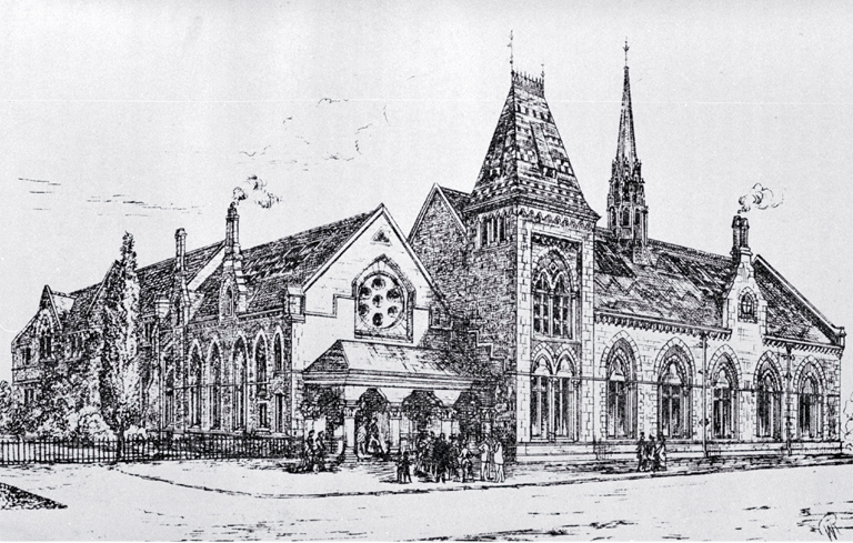 Canterbury Museum, Rolleston Avenue, Christchurch [ca. 1885], CCL PhotoCD 12, IMG0090