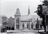 Photo of Canterbury Museum and Rolleston statue ca. 1900