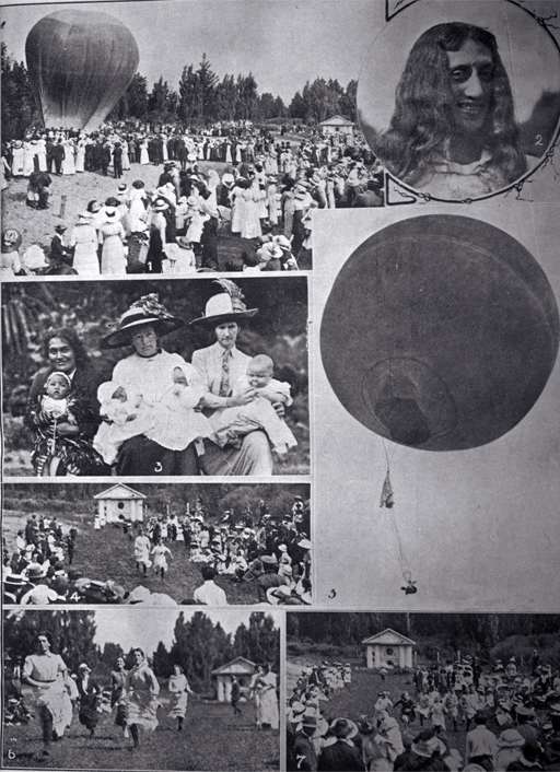 Camera flashes at the annual gala at Wainoni Park on January 24. [24 Jan. 1914] File Reference CCL PhotoCD 18, IMG0019