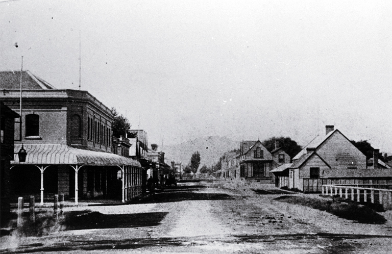Colombo Street, looking towards the Port Hills, Christchurch