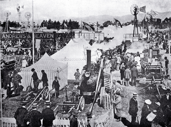 Carnival Week in Christchurch : the implement section of the Canterbury A & P Association's metropolitan show.