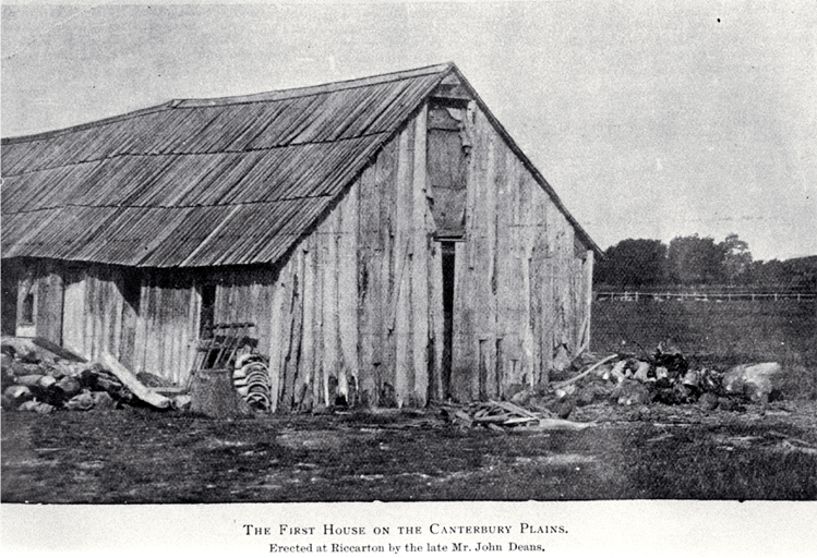 Photo of first house on the Canterbury Plains, Riccarton