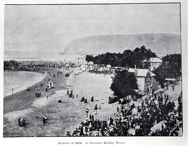 Sumner in 1900 : already a favourite holiday resort.