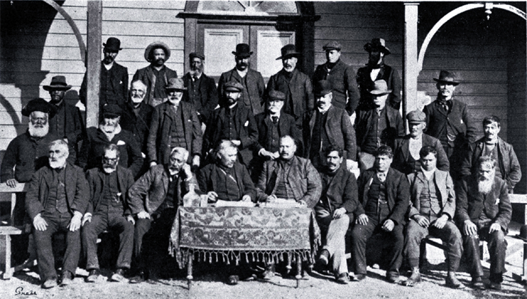 Delegates who attended a representative Maori gathering at Arowhenua Pa, Temuka