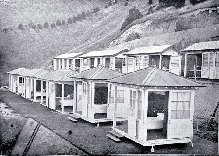 Women's shelters at the Cashmere Sanatorium which opened in 1910