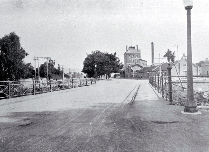 Fitzgerald Avenue bridge, looking south-east
